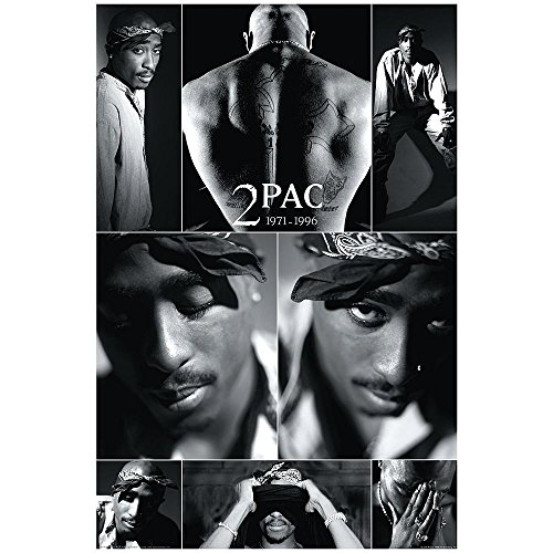 Tupac Shakur Collage Rap Hip Hop Music Icon Legend Celebrity Poster Print  Framed 24X36