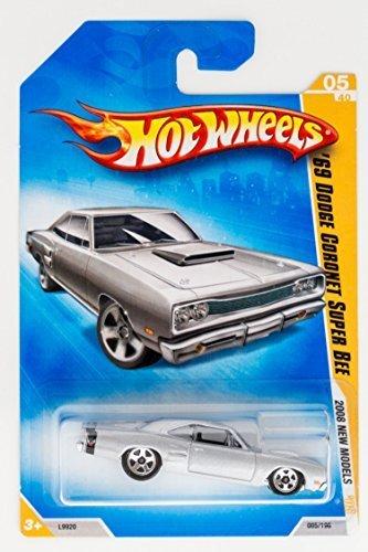 [Hot Wheels 2008 New Models Grey 1969 Dodge Coronet Super Bee] (1969 Dodge Coronet Super Bee)