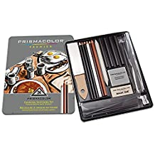 PRISMACOLOR PREMIER Charcoal, Charcoal Sketching Set, Box of 24, Assorted Products (24262)