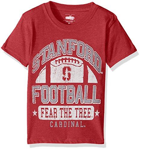 (Cotton Willy NCAA Stanford Cardinal Children Boys Short Sleeve Blend Tee,6,Bullseye Red Blend)