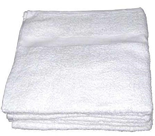 24 New White Economy 15x25 Hand Towels 2.75# Per Dz Gym Salon Fitness Cleaning By OMNI LINENS by Omni Linens