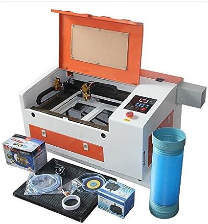KOHSTAR Mini CO2 láser grabado máquina 4030/3040 110 V/220 V 50 W escritorio Plotter de Corte de router de grabado láser con USB: Amazon.es: Electrónica