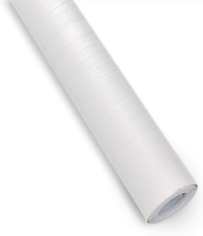 XGzhsa Papel pintado autoadhesivo, papel pintado impermeable de PVC, papel pintado autoadhesivo de grano de madera de 45 cm x 10 m para muebles, gabinetes, sala de estar, dormitorio (blanco)