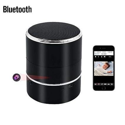 Bluetooth Oculta Cámara , UYIKOO HD 1080P WIFI Cámara Oculta Altavoz Inalámbrico Bluetooth Mini Cámara Espía