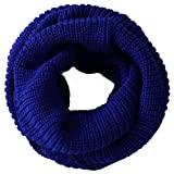 kids cowl neck - Nsstar 2014 Fashion Unisex Women Men Boys Warmer Winter Thick Knit Wool Soft Infinity Scarf Neck Long Scarf Cowl Hood Shawl (Royal Blue)