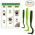 TickCheck Tick Remover Value 3 Pack - Tick Remover Tools + Tick Identification Card - for Humans, Dogs & Cats 7