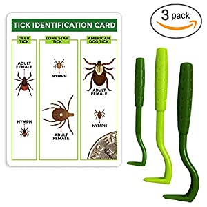 TickCheck Tick Remover Value 3 Pack - Tick Remover Tools + Tick Identification Card - for Humans, Dogs & Cats 4