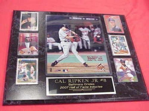 Cal Ripken Jr Orioles 6 Card Collector Plaque w/8x10 3000th Hit (Cal Ripken World Series Baseball)