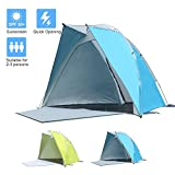 STAR HOME Beach Tents Anti UV Baby Sun Shelter with Door & Window(Blue)