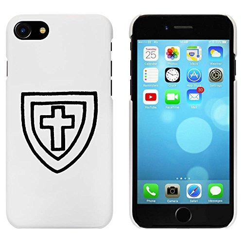 Blanc 'Bouclier Croisé' étui / housse pour iPhone 7 (MC00081142)
