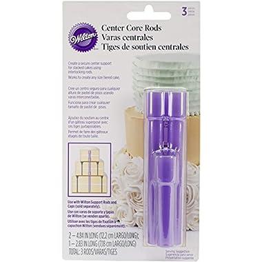 Wilton 399-5003 3-Piece Center Core Cake Rods, Purple, Model: 399-5003, Tools & Hardware store
