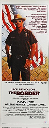 Jack Nicholson Signed 14X36 The Border Movie Poster #I11893 - PSA/DNA Certified