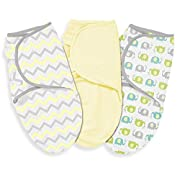 Summer Infant 3 Piece SwaddleMe Adjustable Infant Wrap, Chevron Splash, Large