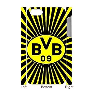 Personalized Durable Cases BVB Borussia Dortmund For iphone4 4S 3D Cell Phone Case White Tuypr Protection Cover