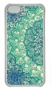 Emerald Doodle Iphone 5C Hard Shell with Transparent Edges Cover Case by Lilyshouse by icecream design