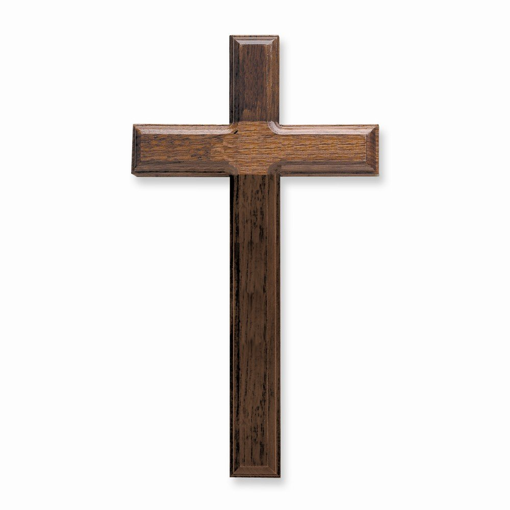 11 Walnut Beveled Wood Cross