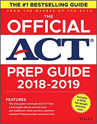 The Official ACT Prep Guide 2018 19 Edition Book Bonus Online Content 1st