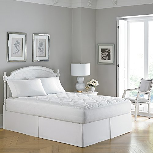 Luxury Laura Ashley 300 TC Cotton Sateen Hypoallergenic Mattress Pad - Medium Plush (Twin)