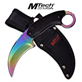 Mtech USA Fixed Blade Tactical Knife 8 Inch Tiger