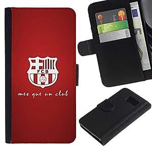 iBinBang / Flip Funda de Cuero Case Cover - MES QUE UN CLUB - FOOTBALL SOCCER - Samsung Galaxy S6 SM-G920