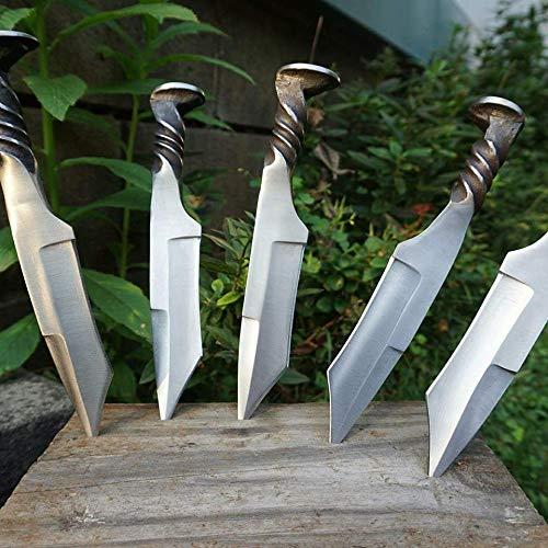 (Andy ALM Custom Made Railroad Spike Tanto Knife)