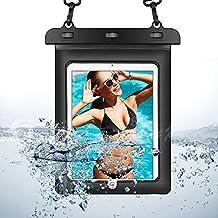 eBuymore Black Waterproof Pouch Bag Case for iPad Pro 9.7 / iPad Air 2 / Samsung Galaxy Tab E 10.1 / Tab A 10.1 / Galaxy Tab S2 VE 9.7 / Galaxy Tab 4 Advanced 10.1