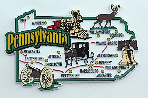 pennsylvania fridge magnet - 5