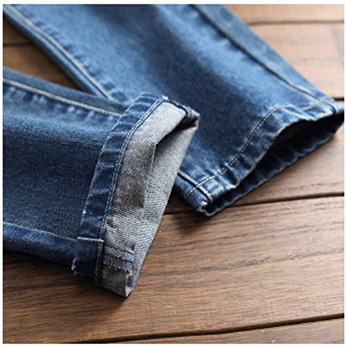 E Cerniera Con Lavati Piccolo America Azzurro Da Europa Jeans Slim Uomo Sundry Drittopantaloni Ricamati Hqg6xI1wn