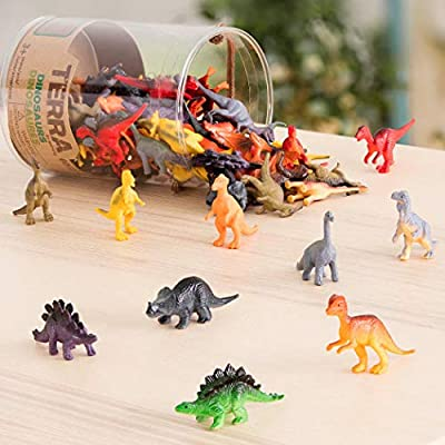 Terra by Battat – Dinosaurs – Assorted Miniature Dinosaur Toy Figures & Cake Toppers For Kids 3+ (60 Pc): Toys & Games