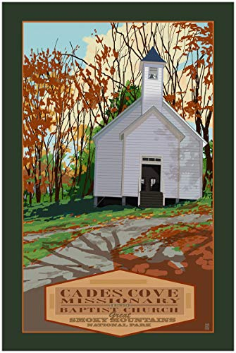 Cades Cove Missionary Smokey Mountains National Park Travel Art Print Poster by Mike Rangner (30