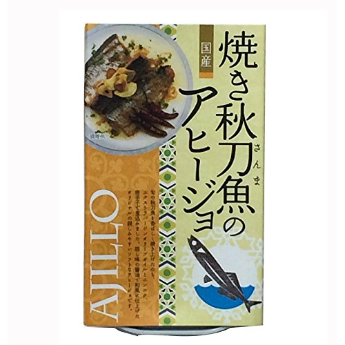 Yamame Fried saury ajillo (Garlic flavor) Canned food (3.5oz) x 1pcs