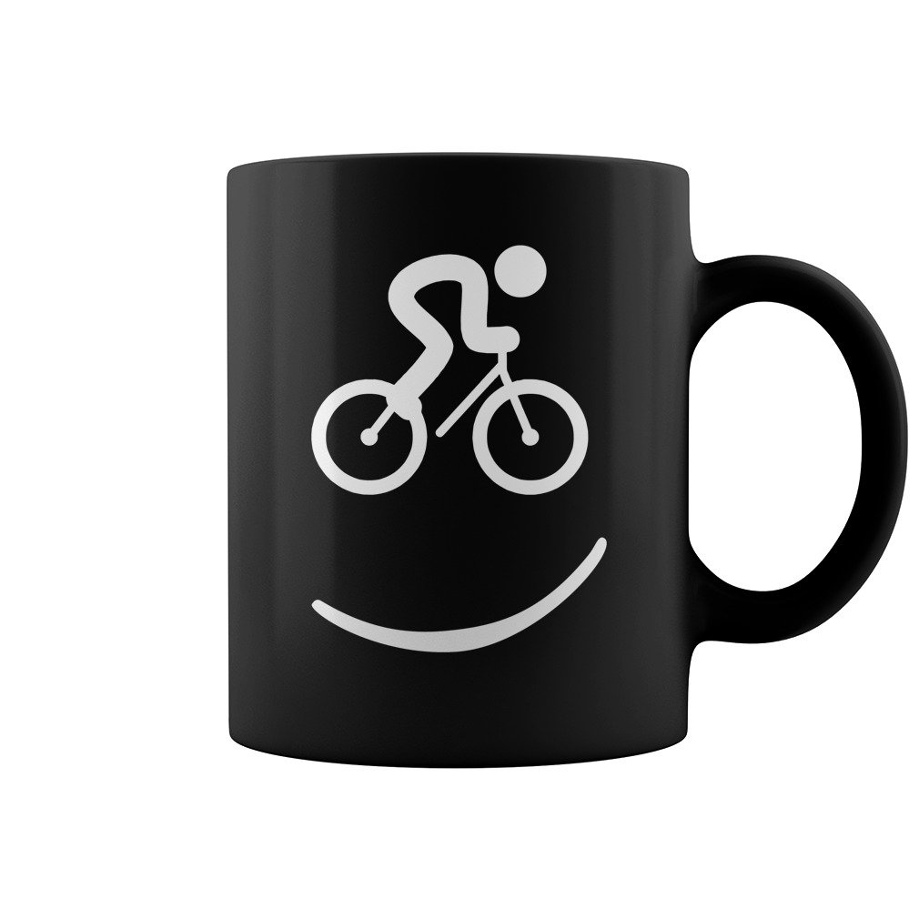 CYCLING SMILE MUG, FUNNY COFFEE MUG, GIFT FOR FRIEND'S BIRTHAY, GIFT FROM BOYFRIEND, GIFT FOR BIRTHDAY'S PARTY