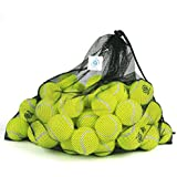 Pressureless Tennis Balls with Mesh Carrying Bag, Sturdy & Durable, Long Lasting - Great For Lessons, Practice, Throwing Machines & Playing With Pets -60 Pack- By Briton