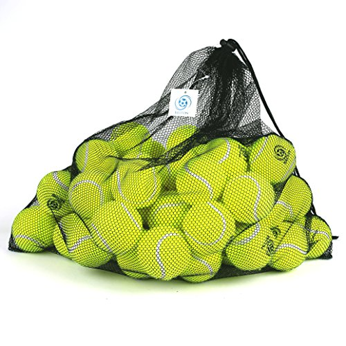 Briton Pressure Less Tennis Balls with Mesh Carrying Bag (Pack of 60)