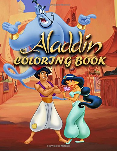 Coloring Book: Aladdin, great coloring pages, (for kids ages 4-10)