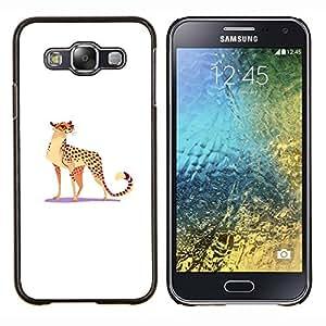 "Be-Star Único Patrón Plástico Duro Fundas Cover Cubre Hard Case Cover Para Samsung Galaxy E5 / SM-E500 ( Leopardo salvaje del gato grande Spots Gafas arte divertido"" )"