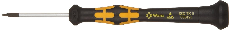 Wera 05030121002 Kraftform ESD 1567 Torx Precision Micro Screwdriver 40mm Blade Length TX5 Head