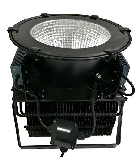 (1 Pack) UL DLC Fin Type LED High Bay Lights 400W LED Flood lighting SMD3030 Mining lamp 90 lens beam angle cover 5000K Suspending (Treatment System Uv Surface)