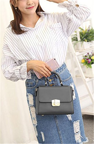 Xinmaoyuan Mujer bolsos de cuero Bolsos Verano Bolso de Hombro Paquete Spiraea, gris Gris