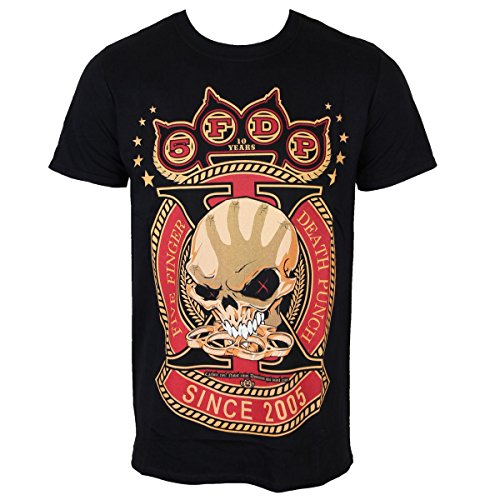 Männer Shirt Five Finger Death Punch - Anniversary X - ROCK OFF - FFDPTS13MB XL