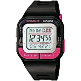 Casio Girl's 'Runner' Quartz Resin Running Watch, Color:Black (Model: SDB-100-1BCF)