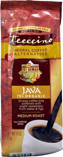 Java Coffee Herbal (Teeccino Ground Herbal Coffee Alternative Java Medium Roast -- 11 oz - 2 pc)