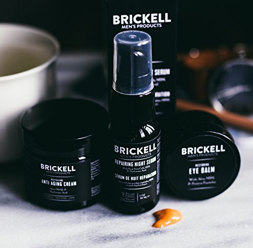51gOiG%2BeS6L - Brickell Men's Advanced Anti-Aging Routine, Night Face Cream, Vitamin C Facial Serum and Eye Cream, Natural and Organic, Scented
