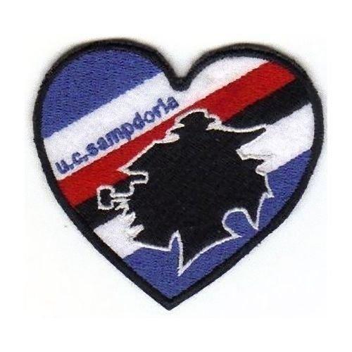 Patch Sampdoria Corazón cm 7,5 x 6,7 parche bordado bordado ...