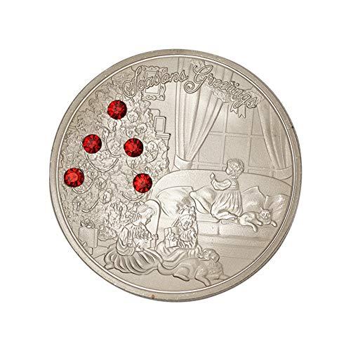 (Connoworld Xmas Commemorative Coin Kids Gift Box Holiday Season Souvenir Collection Gift - Silver)
