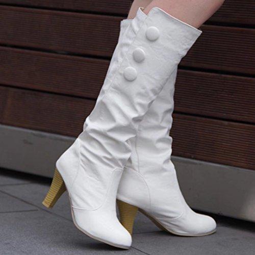 AIYOUMEI Women's Classic Boot White f0TpMvaK4X