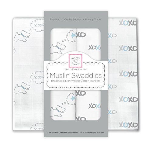 SwaddleDesigns Cotton Swaddle Blankets shining
