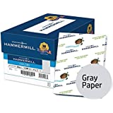 Hammermill Colored Paper, Gray Printer Paper, 20lb, 11x17 Paper, Ledger Size, 2500 Sheets / 5 Ream Case, Pastel Paper, Colorful Paper (102178C)