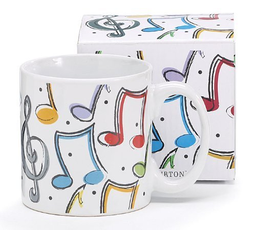 Colorful Musical Notes 13oz Coffee Mug Inexpensive Gift