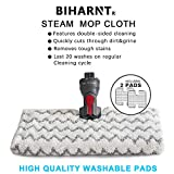 BIHARNT 2 Pack Replacement Steaming Mop Pads for